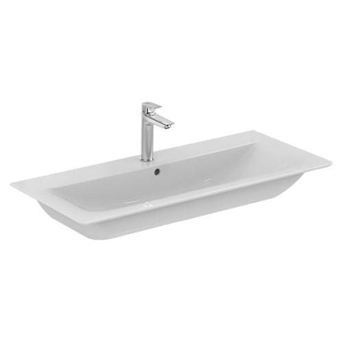 Коннект Эйр умывальник мебельный плоский 1040мм для монтажа соло или с подстольем 1000мм (с 2-мя или 4-мя ящиками) белый Ideal Standard E027401