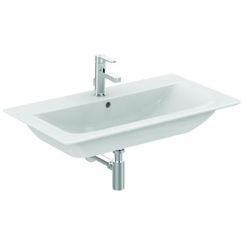 Коннект Эйр умывальник мебельный плоский 840мм для монтажа соло или с подстольем 800мм (с 2-мя или 4-мя ящиками) белый Ideal Standard E027901