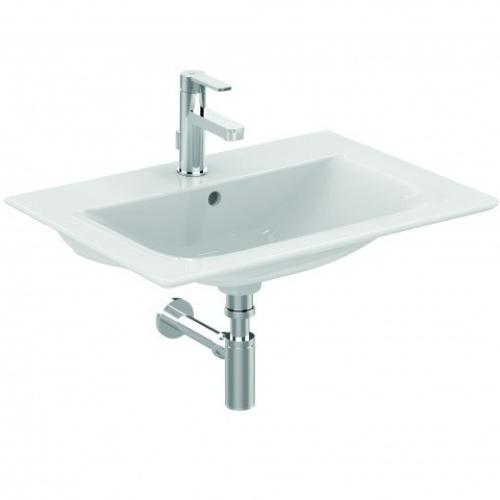 Коннект Эйр умывальник мебельный плоский 640мм для монтажа соло или с подстольем 600мм (с 2-мя или 4-мя ящиками) белый Ideal Standard E028901