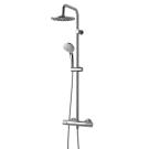 Идеал Дуо система душевая 200 мм, с термостатом для душа Сератерм 100, хром Ideal Standart A5686AA
