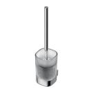 СофтМуд туалетная щетка со стаканом и держателем, держатель - хромированная латунь, стакан - матовое стекло Ideal Standart A9144AA