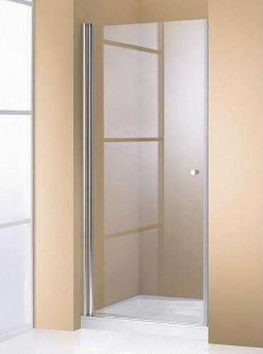 Hueppe 501 Design pure дверь распашная мат хром прозрачная 80x190