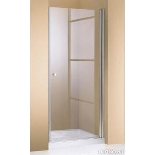 Hueppe 501 Design дверь распашная хром прозрачная 100x190