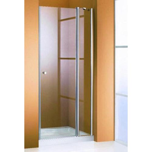 Hueppe 501 Design дверь распашная хром прозрачная с неп сегм 90x190