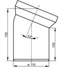 Муфта сливная для WC 22 гр Sanit 58.101.01