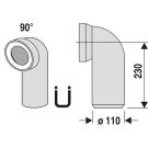 Муфта сливная для WC 90 гр Sanit 58.103.01