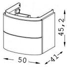 EB1102-HU тумба PRESQUILE 50х41х45,2 Jacob Delafon