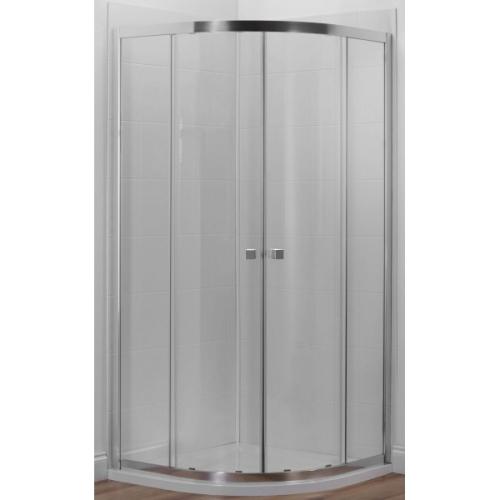 E14R90-GA душевое ограждение SERENITY полукруглое стекло 6 мм прозрачное профиль хром 90х90 Jacob Delafon
