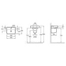 E4493-00 раковина мебельная REPLAY 45х35 (белый) Jacob Delafon