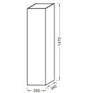 EB984-E15 пенал подвесной SOPRANO VOX 1 дверь с мех.плавное закр. 3 полки 35х34х147 (черное дерево) Jacob Delafon