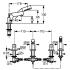 Kludi 574240530 смеситель NEW WAVES для ванны и душа (хром)
