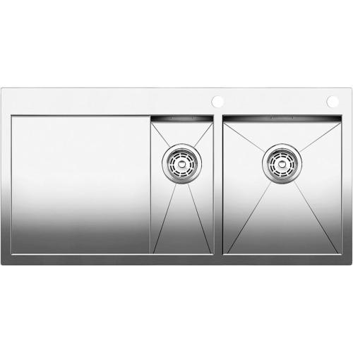Blanco Мойка ZEROX 6S-IF/А (чаша справа) нержавеющая сталь зеркальная полировка с клапаном-автоматом BL-513705