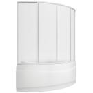 Шторка для ванны Вектра (пластик Вотер) BAS 150х90