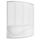 Шторка для ванны Николь (пластик Вотер) BAS 170x100