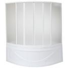 Шторка для ванны Хатива (пластик Вотер) 6 створок BAS 143x143