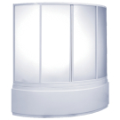 Шторка для ванны Сагра (пластик Вотер) BAS 160х100