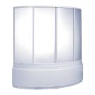 Шторка для ванны Алегра (стекло Грэйп) BAS 150х90