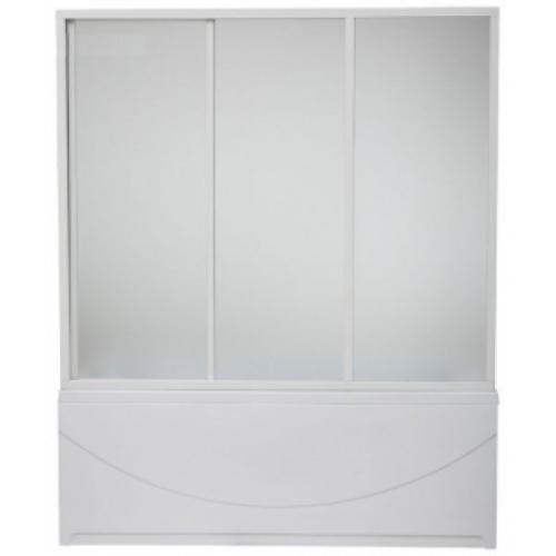 Шторка для ванны Бриз / Верона/Ибица (стекло Шиншила) BAS 150 см