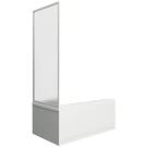 Шторка для ванны Ахин боковая часть (стекло Грэйп) BAS 80 см