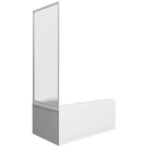 Шторка для ванны Мальта боковая часть (стекло Грэйп) BAS 75 см