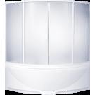 Шторка для ванны Дрова (пластик Вотер) BAS 160x160