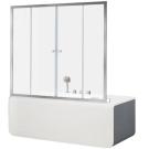 Aquanet NAA6142 Alfa 5 шторка для ванны 1700x1400 стекло прозрачное 6 мм профиль хром (196046)