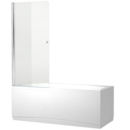 Aquanet NF6211 Alfa 1 шторка для ванны 1 стекло универсальная 750x1350 стекло прозрачное 5 мм профиль Хром (196050)