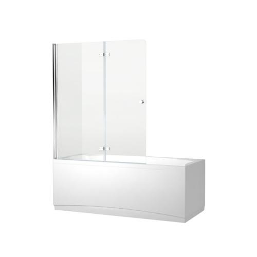 Aquanet NF6222-hinge Beta 4 шторка для ванны 2 стекла универсальная 1220x1400 стекло прозрачное петли хром (196053)