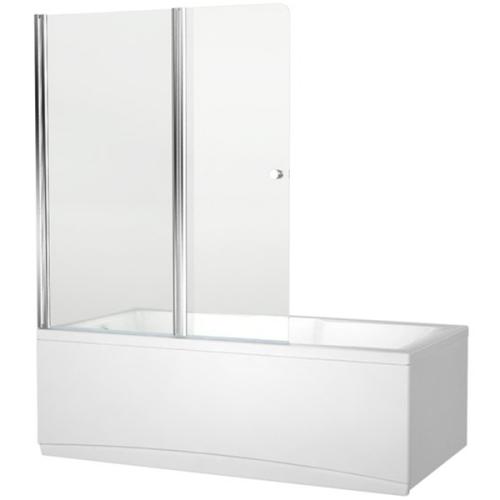 Aquanet NF6222-pivot Alfa 4 шторка для ванны 2 стекла универсальная 1220x1400 стекло прозрачное 5 мм профиль хр (196049)