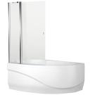 Aquanet NF7221-1 pivot Alfa 3 шторка для ванны Mayorca универсальная 926x140 стекло прозрачное 5 мм профиль Хром (196048)