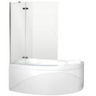 Aquanet NF7221-2 hinge Beta 2 шторка для ванны Jamaica L 1135x1400 стекло прозрачное 5 мм петли хром (196051)