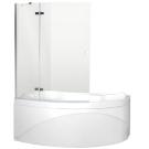 Aquanet NF7221-2 hinge Beta 2 шторка для ванны Jamaica R 1135x1400 стекло прозрачное 5 мм петли хром (196062)