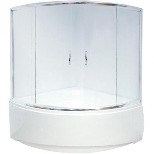 Aquanet Душевая шторка на ванну Malta 150x150x135 прозр профиль хром (154814)