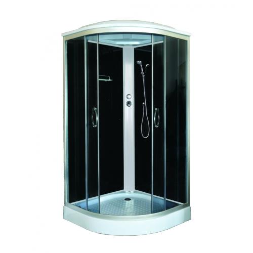 Душевая кабина CS-900 SK G 90*90*215 низкая серая, стекло 4мм, поддон 15 см