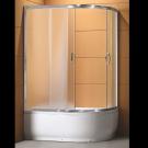 Душевое ограждение CS-1285 SK L 100*80*195 высокая матовая, стекло 4мм, поддон 43 см