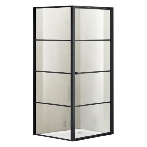 AZARIO VANCOUVER 1131R Душевое ограждение 1000х1200х2000 без поддона (раздвижная дверь) профиль серебро стекло прозрачное 8 мм с покрытием Easy clean