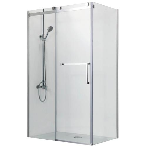 AZARIO VANCOUVER 1131 L Душевое ограждение 800х1200*2000 без поддона (раздвижная дверь) профиль серебро стекло прозрачное 8 мм с покрытием Easy clean