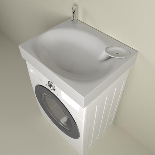 Раковина для установки над стиральной машиной Lavanderia 600х500 1марка