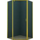 Душевое ограждение AZ-112P 100x100x200 золото 5 мм прозрачное стекло Azario