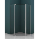 Душевое ограждение AZ-112P 100x100x200 хром 5 мм прозрачное стекло Azario