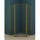 Душевое ограждение AZ-112P 100x100x200 шкуренная бронза 5 мм прозрачное стекло Azario