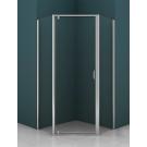 Душевое ограждение AZ-112P 90x90x200 хром 5 мм прозрачное стекло Azario