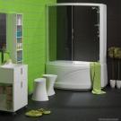 BALTECO Шторка с г/м стойкой для ванны Cristina 150 правая