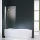NOVELLINI Шторка на ванну AURORA 1 80х150 (профиль хром, стекло прозрачное)