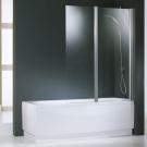 NOVELLINI Шторка на ванну AURORA 2 120х150 (профиль серебро, стекло прозрачное) правая/левая