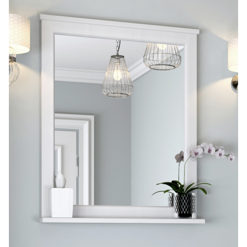 Зеркало Леон 65 Дуб белый 1A187102LBPS0 Акватон