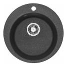 Мойка кухонная Иверия круглая 480 мм графит 1A711032IV210 Акватон