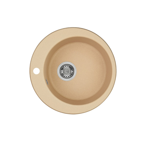 Мойка кухонная Иверия круглая 480 мм латте 1A711032IV260 Акватон