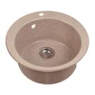 Мойка кухонная Иверия круглая 480 мм розовая 110-М.03.403 Акватон