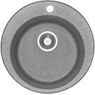 Мойка кухонная Иверия круглая 480 мм серая 1A711032IV230 Акватон